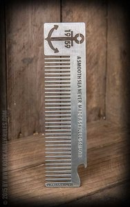 """Rumble59 - Comb """"Anchor""""  Made from high-class zinc this Rumble59 comb doesn't only lay perfectly in your"""