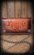 "Leather Wallet ""sunburst"" handmade"